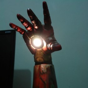 Homemade Iron Man Desk Lamp